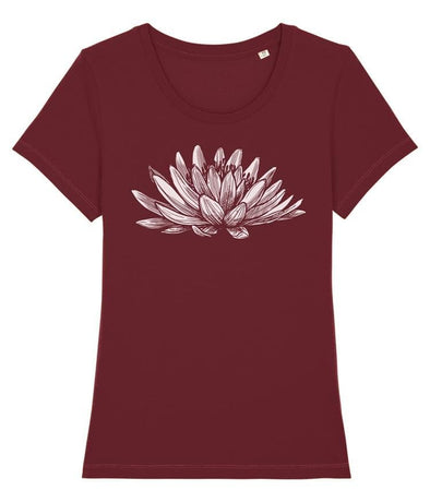 Lotus Women's T-shirt Burgundy