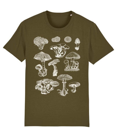 Mushrooms Set Men's T-shirt Khaki