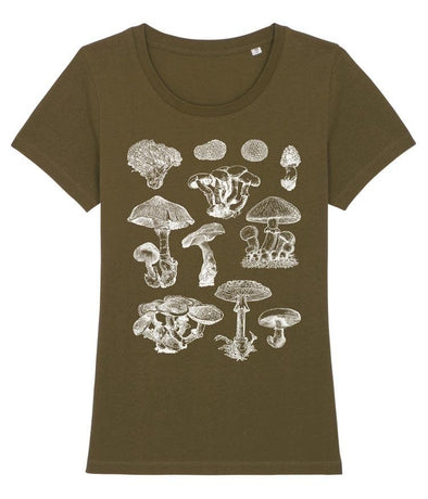 Mushrooms Set Women's T-shirt Khaki