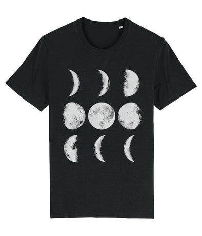 Nine Phases of the Moon Men's T-shirt Black