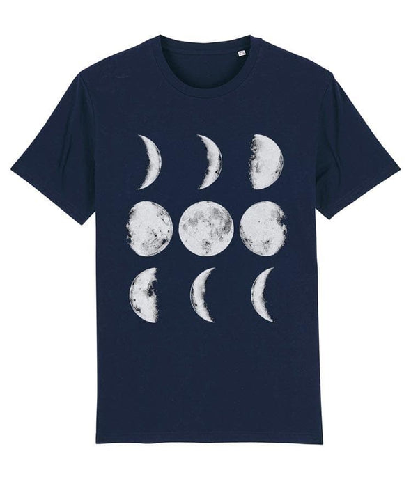 Nine Phases of the Moon Men's T-shirt Navy