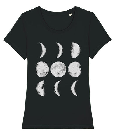 Nine Phases of the Moon Women's T-shirt Black