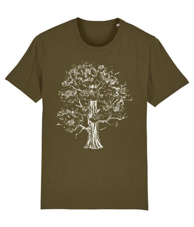 Oak Tree Men's T-shirt Khaki