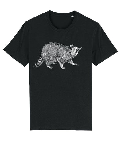 Raccoon Men's T-shirt Black