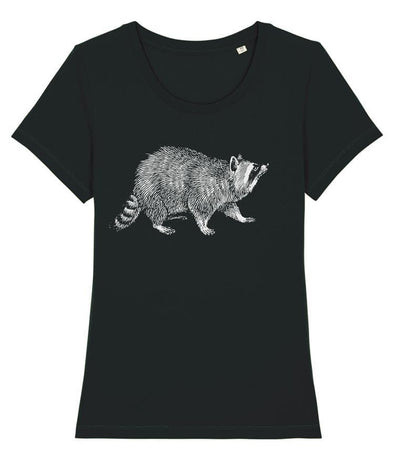 Raccoon Women's T-shirt Black