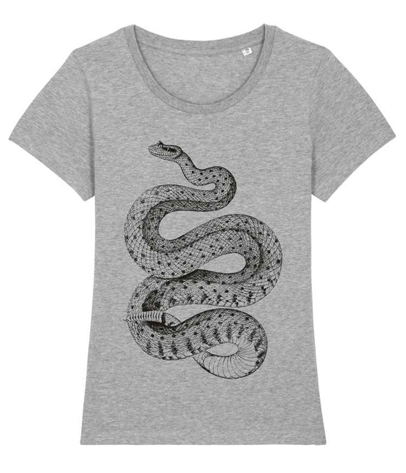 Rattlesnake T-shirt Women's Heather Grey