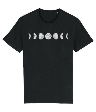 Seven Phases of the Moon Men's T-shirt Black