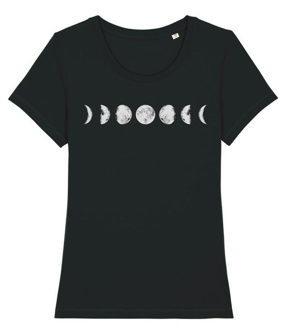 Seven Phases of the Moon Women's T-shirt Black