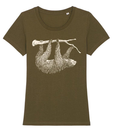 Sloth Women's T-shirt Khaki