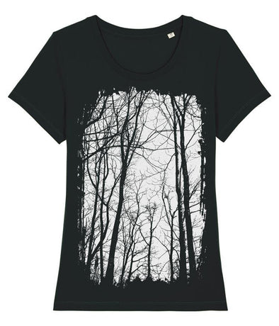 Tree Forest Women's T-shirt Black