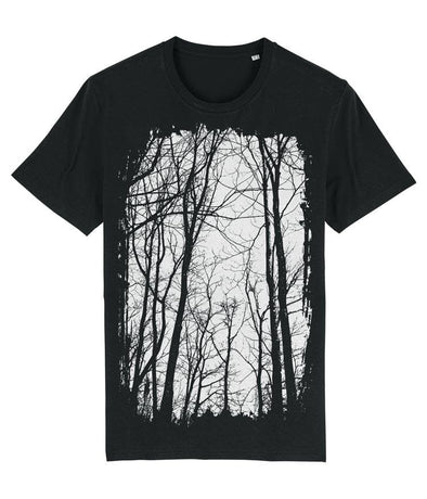 Tree Forest Men's T-shirt Black