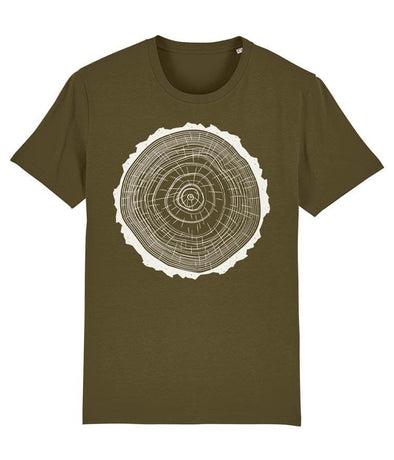 Tree Rings Men's T-shirt Khaki