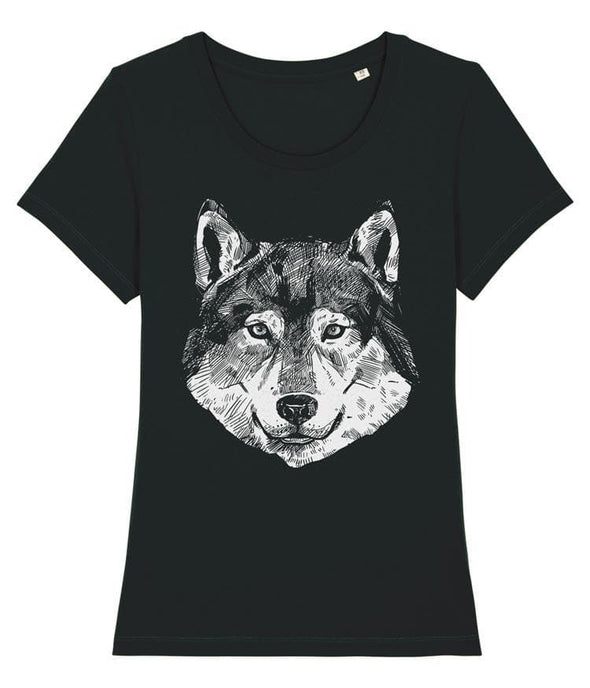 Wolf Women's T-shirt Black