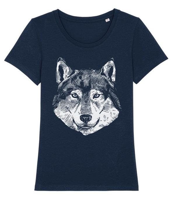 Wolf Women's T-shirt Navy