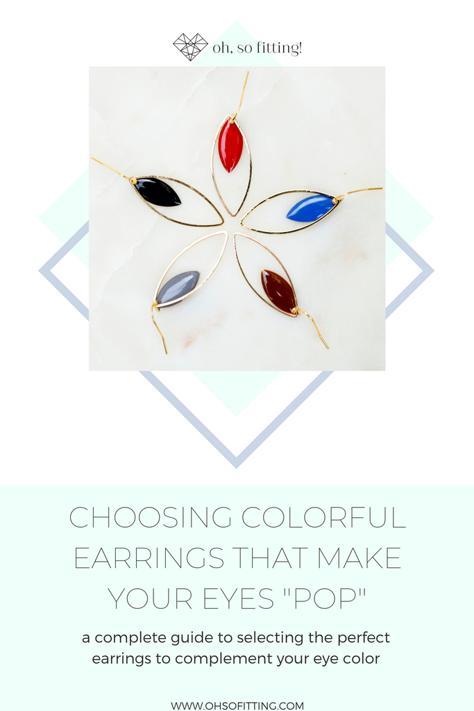 How to pick the best earrings to complement your eye color