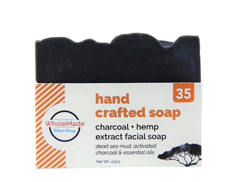 WholeMade Charcoal Facial Hemp Soap - metro hemp supply