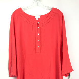 Primary Photo - BRAND: J JILL STYLE: TOP LONG SLEEVE BASIC COLOR: CORAL SIZE: XL SKU: 164-164180-2334