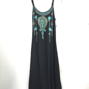 Primary Photo - BRAND: MONORENO STYLE: DRESS LONG SLEEVELESS COLOR: BLACK SIZE: S OTHER INFO: TURQ EMBROIDERY SKU: 164-164140-16857