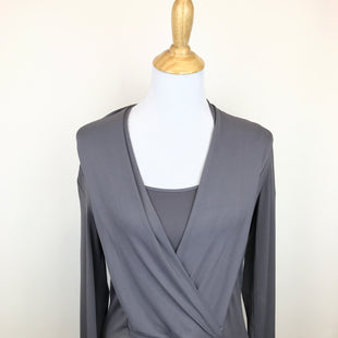 Primary Photo - BRAND: ECI STYLE: TOP LONG SLEEVE COLOR: GREY SIZE: M OTHER INFO: NEW! SKU: 164-164183-646