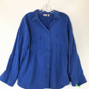 Primary Photo - BRAND: CHICOS STYLE: TOP LONG SLEEVE COLOR: BLUE SIZE: XL OTHER INFO: SZ 3 SKU: 164-164185-702