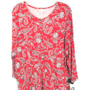 Primary Photo - BRAND: J JILL STYLE: TUNIC LONG SLEEVE COLOR: RED SIZE: XL SKU: 164-164180-2326