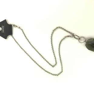 Primary Photo - BRAND: BANANA REPUBLIC O STYLE: NECKLACE COLOR: GREEN OTHER INFO: LONG SILVER NECKLACE SKU: 164-164140-16520