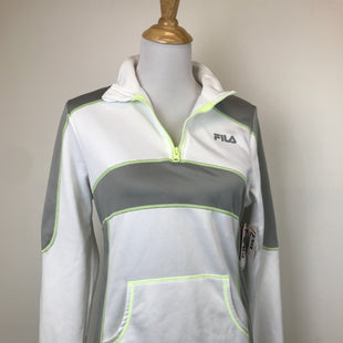 Primary Photo - BRAND: FILA STYLE: ATHLETIC TOP COLOR: WHITE YELLOW SIZE: M OTHER INFO: NEW! SKU: 164-164140-14080