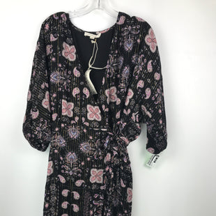 Primary Photo - BRAND: LOVE STITCH STYLE: DRESS SHORT SHORT SLEEVE COLOR: BLACK SIZE: L OTHER INFO: NEW! PINK PAISLEY W/METALLIC THREAD SKU: 164-164196-225