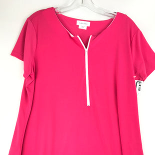 Primary Photo - BRAND: CALVIN KLEIN STYLE: TOP SHORT SLEEVE COLOR: PINK SIZE: XL SKU: 164-164185-698