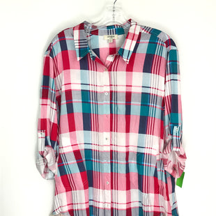 Primary Photo - BRAND: UMGEE STYLE: TUNIC LONG SLEEVE COLOR: RED PLAID SIZE: L SKU: 164-164140-17047