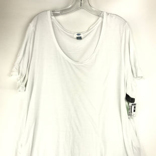 Primary Photo - BRAND: OLD NAVY STYLE: TOP SHORT SLEEVE BASIC COLOR: WHITE SIZE: 2X SKU: 164-164175-5254