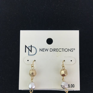 Primary Photo - BRAND: NEW DIRECTIONS STYLE: EARRINGS COLOR: GOLD SILVER OTHER INFO: NEW, BEADS SKU: 164-164175-4199