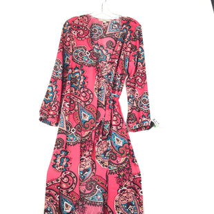 Primary Photo - BRAND: ANN TAYLOR LOFT STYLE: DRESS SHORT LONG SLEEVE COLOR: PINKBLACK SIZE: M OTHER INFO: WRAP DRESS SKU: 164-164175-5199