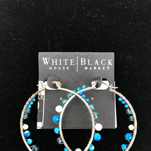 Primary Photo - BRAND: WHITE HOUSE BLACK MARKET STYLE: EARRINGS COLOR: SILVER OTHER INFO: NEW, BLUE/WHITE BEADS SKU: 164-164175-4201
