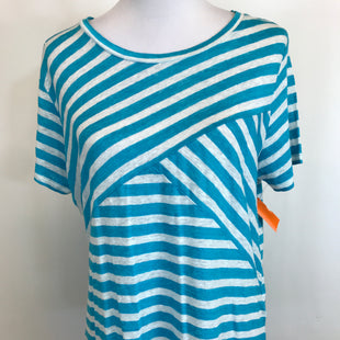 Primary Photo - BRAND: J CREW STYLE: TOP SHORT SLEEVE COLOR: BLUE WHITE SIZE: L OTHER INFO: STRIPES SKU: 164-164183-917