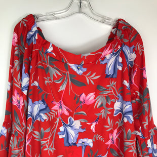 Primary Photo - BRAND: IMPECCABLE PIG STYLE: TOP LONG SLEEVE COLOR: RED SIZE: L OTHER INFO: PINK & BLUE FLOWERS SKU: 164-164189-670