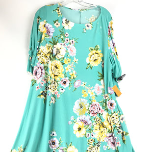 Primary Photo - BRAND: EMERALD STYLE: DRESS SHORT SHORT SLEEVE COLOR: AQUA SIZE: XXL OTHER INFO: FLORAL SKU: 164-164183-1248