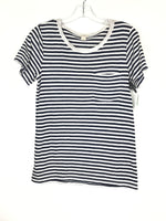 Primary Photo - BRAND: J CREW O <BR>STYLE: TOP SHORT SLEEVE <BR>COLOR: BLUE WHITE <BR>SIZE: S <BR>OTHER INFO: STRIPE T <BR>SKU: 164-164140-16434