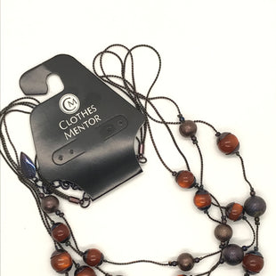 Primary Photo - BRAND: COLDWATER CREEK STYLE: NECKLACE COLOR: BLACK OTHER INFO: AMBER BEADS SKU: 164-164185-49