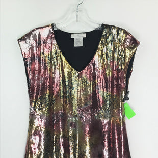 Primary Photo - BRAND: PAPILLION STYLE: TOP SLEEVELESS COLOR: BLACK SIZE: L OTHER INFO: SEQUIN GOLD/BLACK/PINK SKU: 164-164196-514
