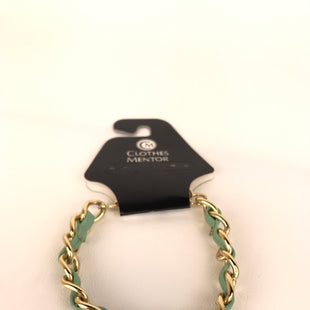 Primary Photo - BRAND:    CLOTHES MENTOR STYLE: BRACELET COLOR: GOLD OTHER INFO: BRAIDED WITH TEAL SKU: 164-164180-1920