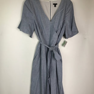 Primary Photo - BRAND: ANN TAYLOR STYLE: DRESS LONG SHORT SLEEVE COLOR: BLUE SIZE: MOTHER INFO: PANTSUIT SIZE 8SKU: 164-164175-5215.