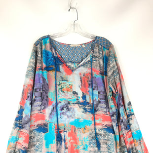 Primary Photo - BRAND: SOFT SURROUNDINGS STYLE: TOP LONG SLEEVE COLOR: BLUE RED SIZE: L SKU: 164-164175-5278
