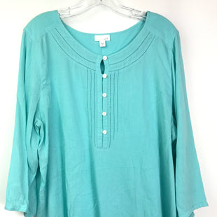 Primary Photo - BRAND: J JILL STYLE: TOP LONG SLEEVE BASIC COLOR: BLUE SIZE: XL SKU: 164-164180-2335
