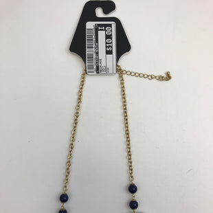 Primary Photo - BRAND:    CLOTHES MENTOR STYLE: NECKLACE COLOR: NAVY OTHER INFO: GOLD SKU: 164-164140-11351