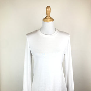 Primary Photo - BRAND:    CLOTHES MENTOR STYLE: TOP LONG SLEEVE COLOR: WHITE SIZE: M OTHER INFO: RAG CLOTH - SKU: 164-164136-21257