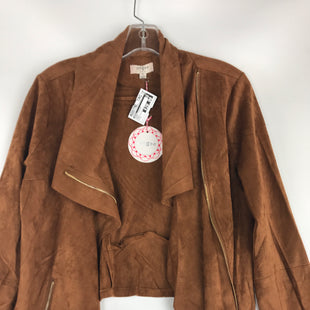Primary Photo - BRAND: UMGEE STYLE: JACKET OUTDOOR COLOR: BROWN SIZE: S OTHER INFO: SUEDE ZIP UP MOTTO SKU: 164-164175-5186