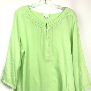 Primary Photo - BRAND: J JILL STYLE: TOP LONG SLEEVE BASIC COLOR: LIME GREEN SIZE: XL SKU: 164-164180-2333