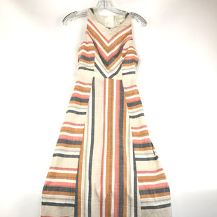 Primary Photo - BRAND: JAPNA STYLE: DRESS LONG SLEEVELESS COLOR: CREAM SIZE: XS OTHER INFO: NEW! ORANGE/TAN/CREAM STRIPE SKU: 164-164196-388