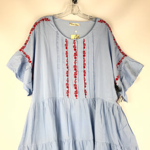 Primary Photo - BRAND: CLOTHES MENTOR STYLE: DRESS SHORT SSCOLOR: BLUE SIZE: 3XOTHER INFO: NEW! RED EMBROIDERY SKU: 164-164183-1264.